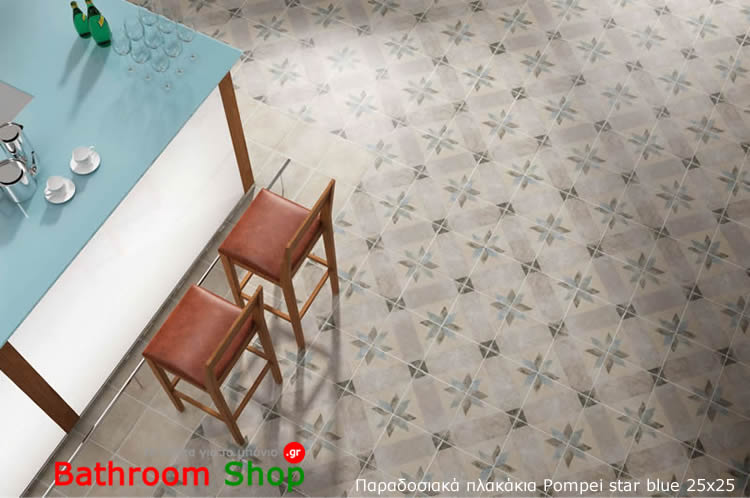 POMPEI STAR BLUE 25x25 home